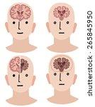 comparing brains with alzheimer'... | Shutterstock .eps vector #265845950