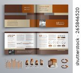 brown brochure template design... | Shutterstock .eps vector #265846520