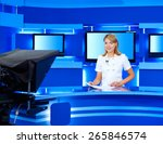 a television announcer at... | Shutterstock . vector #265846574