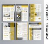 classic brochure template... | Shutterstock .eps vector #265851260