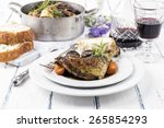 coq au vin   Shutterstock . vector #265854293