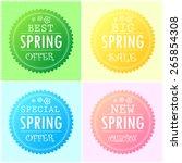 four modern style spring... | Shutterstock .eps vector #265854308