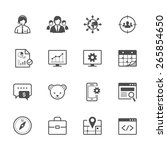 seo and development icons | Shutterstock .eps vector #265854650