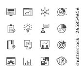 seo and development icons | Shutterstock .eps vector #265854656