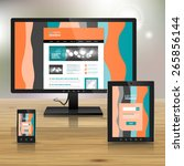 striped application template... | Shutterstock .eps vector #265856144