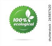 eco label  sticker | Shutterstock .eps vector #265857620