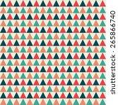 triangles pattern  retro colors ... | Shutterstock . vector #265866740