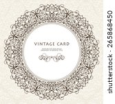 round vintage luxury style... | Shutterstock .eps vector #265868450