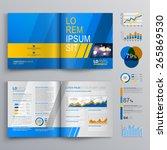 blue brochure template design... | Shutterstock .eps vector #265869530