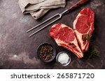 heart shape raw fresh meat... | Shutterstock . vector #265871720