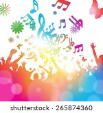 colorful abstract illustration... | Shutterstock . vector #265874360