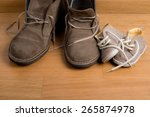 closeup of father's shoes close ... | Shutterstock . vector #265874978