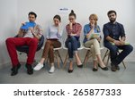 stressful moments for people in ... | Shutterstock . vector #265877333