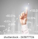 investment concept businessman...   Shutterstock . vector #265877726