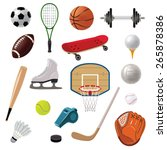 sports equipment decorative... | Shutterstock .eps vector #265878386