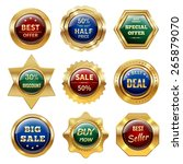 golden sale best offer special... | Shutterstock .eps vector #265879070