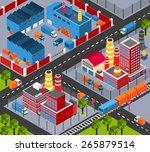 factory infrastructure...   Shutterstock .eps vector #265879514