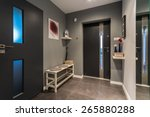 cosy hall with front door and... | Shutterstock . vector #265880288
