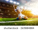 soccer player in action on... | Shutterstock . vector #265884884