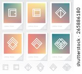 thin line geometric logo... | Shutterstock .eps vector #265886180