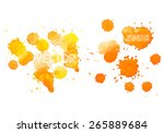 colorful abstract hand drawn... | Shutterstock .eps vector #265889684