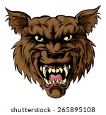 a mean looking werewolf wolf... | Shutterstock .eps vector #265895108
