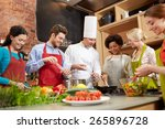 cooking class  culinary  food...   Shutterstock . vector #265896728