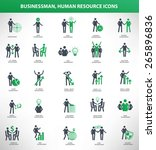 businessman  human resource... | Shutterstock .eps vector #265896836