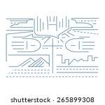 urban spirit  hand drawn vector ... | Shutterstock .eps vector #265899308