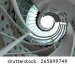 modern glass spiral staircase...   Shutterstock . vector #265899749