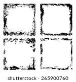grunge frames   collection | Shutterstock .eps vector #265900760
