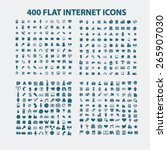 400 flat business  media ... | Shutterstock .eps vector #265907030