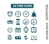 20 time  clocks icons  signs ...