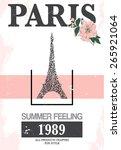 paris print slogan. for t shirt ...   Shutterstock .eps vector #265921064