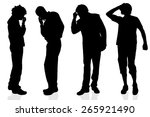 vector silhouette of a man on a ... | Shutterstock .eps vector #265921490