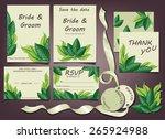 wedding invitation cards | Shutterstock .eps vector #265924988