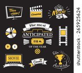 movie signs set  cinema logos... | Shutterstock .eps vector #265925624