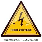 triangular high voltage warning ... | Shutterstock .eps vector #265926308