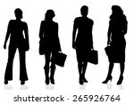 vector silhouette of a woman on ... | Shutterstock .eps vector #265926764