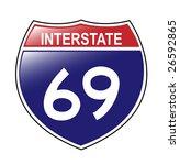 interstate 69 sign  which runs... | Shutterstock .eps vector #26592865