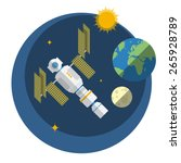 view of space station  sun ... | Shutterstock .eps vector #265928789