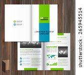 white brochure template design... | Shutterstock .eps vector #265945514