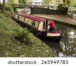 narrow boat barges maneouvreing ... | Shutterstock . vector #265949783