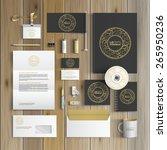 black corporate identity... | Shutterstock .eps vector #265950236