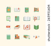 a set of book icons | Shutterstock .eps vector #265951604