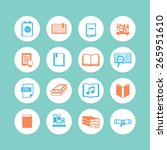 a set of book icons | Shutterstock .eps vector #265951610