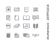 a set of book icons   Shutterstock .eps vector #265951616