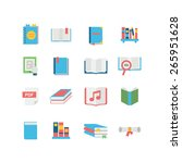 a set of book icons | Shutterstock .eps vector #265951628