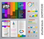 color brochure template design... | Shutterstock .eps vector #265955330