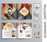brown brochure template design... | Shutterstock .eps vector #265957766